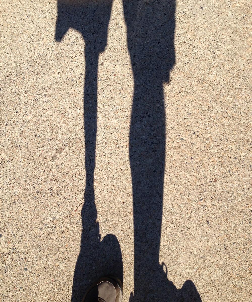 Neil's shadow