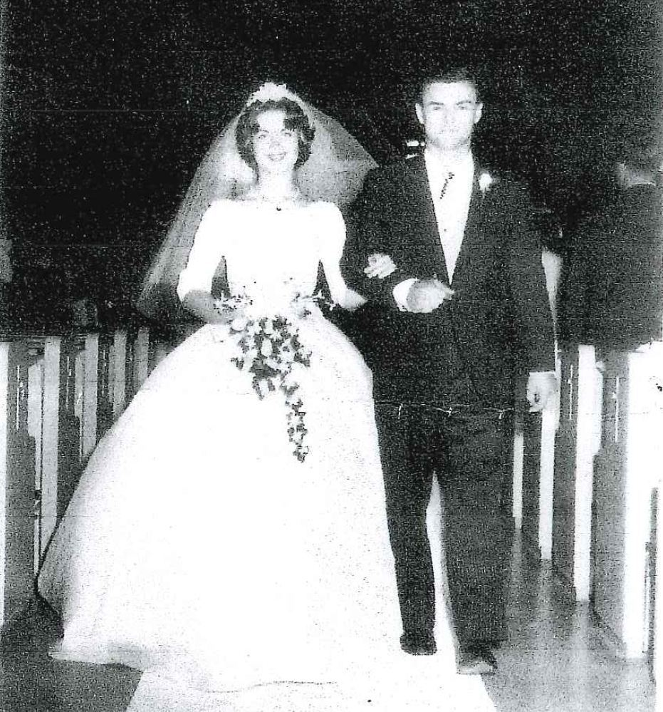 Wedding day, June 30, 1962