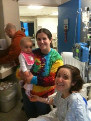 Rebecca in hospital