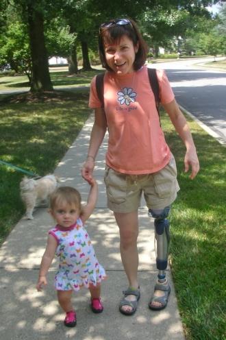 Rebecca and Riley walk a mile
