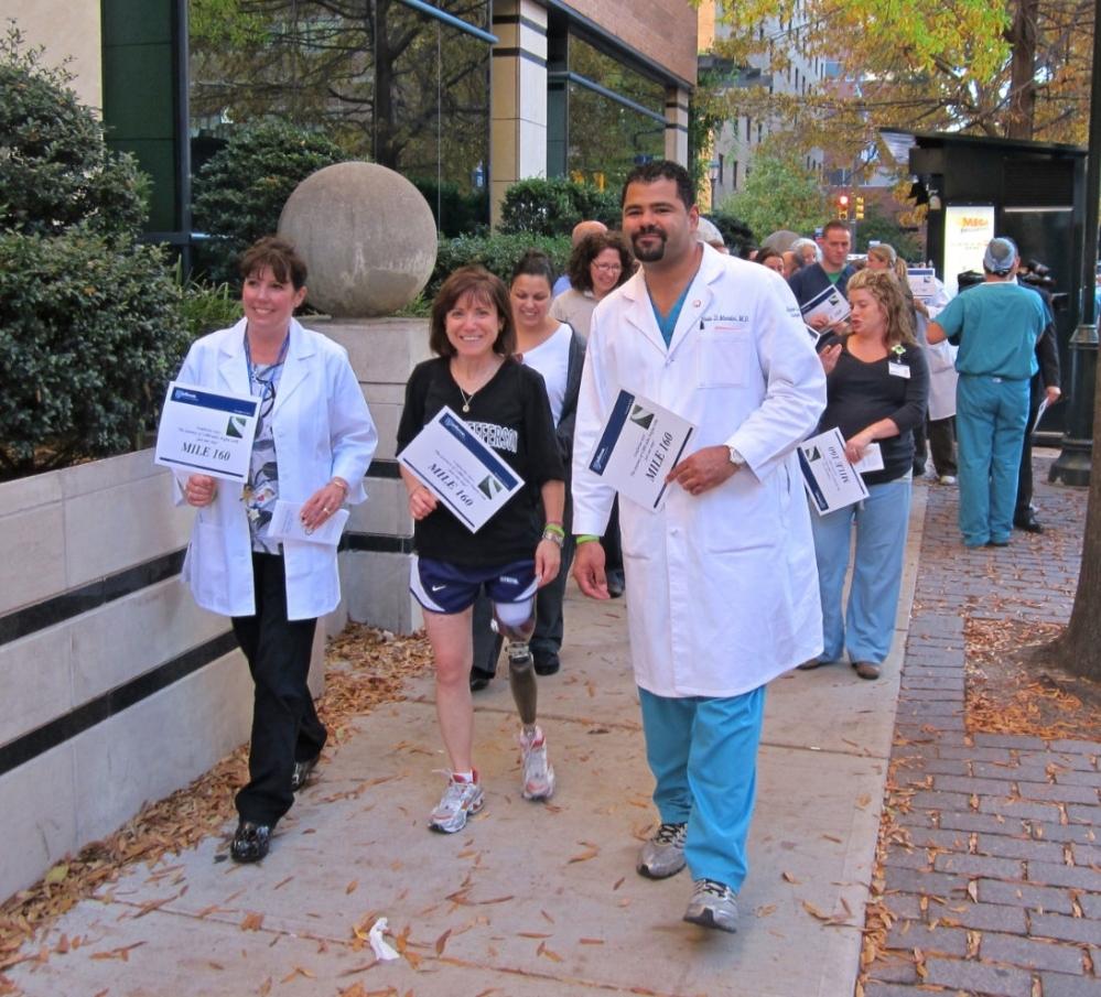 Rebecca and her medical team